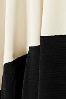 Donna Karan Mesh-trimmed jersey midi skirt