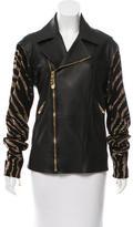 Versus Embellished Leather Jacket