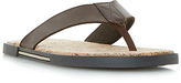 Dune Indie Leather Sandals, Brown
