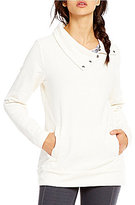 Lucy Journey Within Funnel Neck Pocket Tunic Pullover