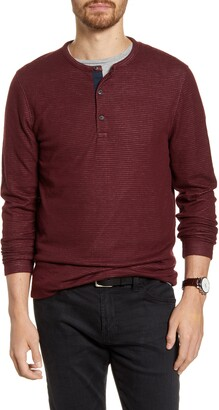 1901 Stripe Long Sleeve Henley