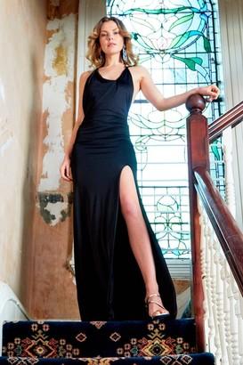 Sarvin Emrate - Twisted strap maxi dress with side slit