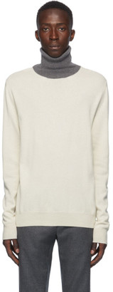 Maison Margiela Off-White Colorblock Turtleneck Sweater