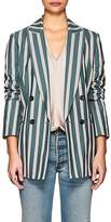 TOMORROWLAND Women's Striped Cotton-Blend Double-Breasted Blazer