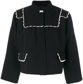 RED Valentino cropped jacket - women - Cotton/Polyester/Acetate/Viscose - 40