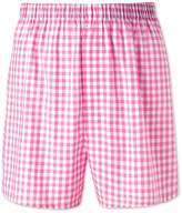Charles Tyrwhitt Pink Gingham Woven Boxers Size Large
