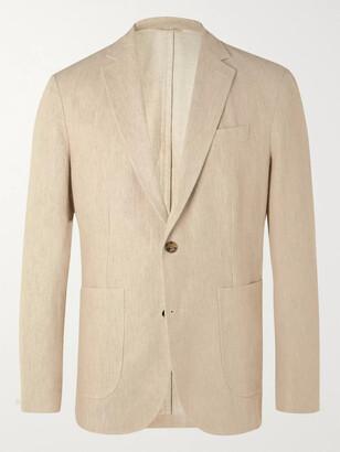 NN07 Harvey Unstructured Melange Cotton And Linen-Blend Suit Jacket