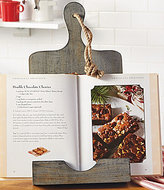 Mud Pie Rustic Weathered Wood Cookbook Holder Stand