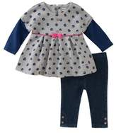 Absorba Girls' 2pc Tunic & Legging Set.