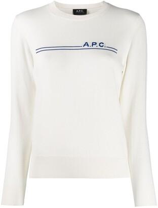 A.P.C. Logo Stripe Jumper