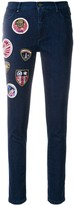 Mr & Mrs Italy decorative patch cropped jeans