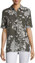 Lafayette 148 New York Hazel Exposed Blooms Blouse