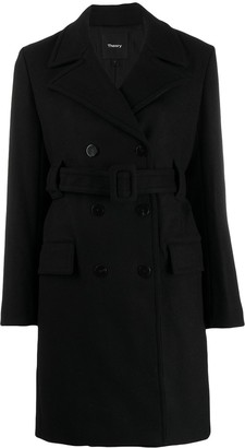 Theory Belted Double Breasted Coat