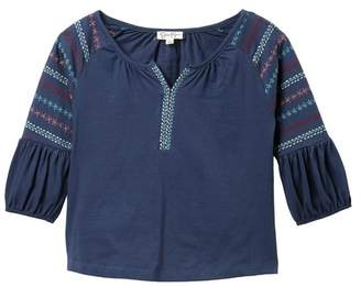 Jessica Simpson Embroidered Long Sleeve Top (Big Girls)