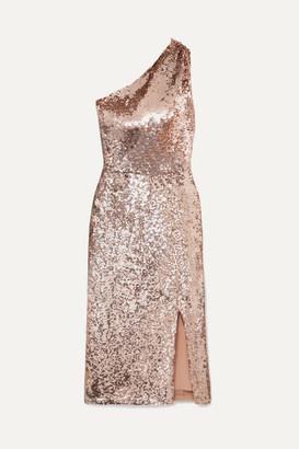 HANEY Sasha One-shoulder Sequined Tulle Dress - Pink