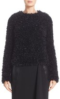 Max Mara Women's Bleu Eyelash Fringe Sweater