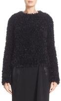 Max Mara Women's Bleu Eyelash Fringe Sweater