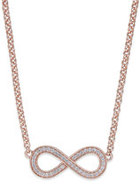 Thomas Sabo Cubic Zirconia Infinity Pendant Necklace in Rose Gold-Plated Sterling Silver