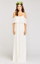 MUMU Caitlin Ruffle Maxi Dress ~ Wedding Cake Chiffon