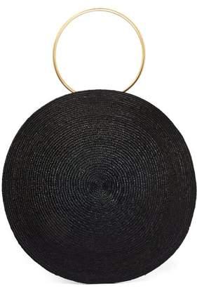 Eliurpi - Circle Maxi Woven-straw Bag - Womens - Black