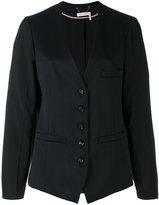 Chloé collarless blazer - women - Cotton/Viscose/Virgin Wool - 36