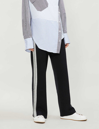 Claudie Pierlot Miles wide-leg knitted trousers