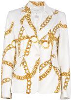 Celine Vintage chain print blazer