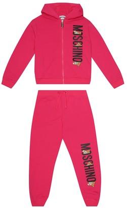 Moschino Kids Logo stretch-cotton tracksuit