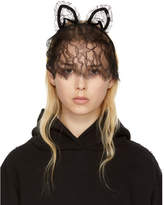 Maison Michel Black Lace Heidi Cat Veil Headband