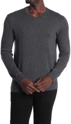Theory Riland Wool Blend V-Neck Sweater