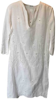 120% Lino White Linen Top for Women