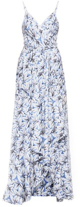 Jonathan Simkhai Ava Floral Wrap Gown