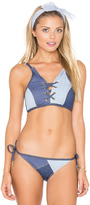 Seafolly Out Of The Blue Lace Up Bikini Top