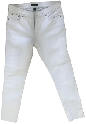 Lauren Ralph Lauren White Cotton - elasthane Jeans for Women