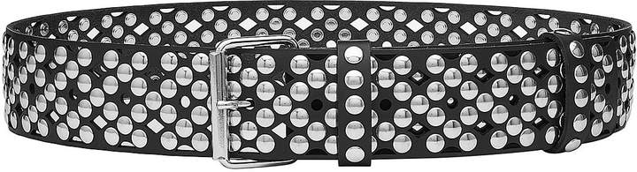 Faith Connexion Perforated and Studded Leather Belt