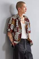 Mojo Kojo Maz Print Short Sleeve Button-Down Shirt