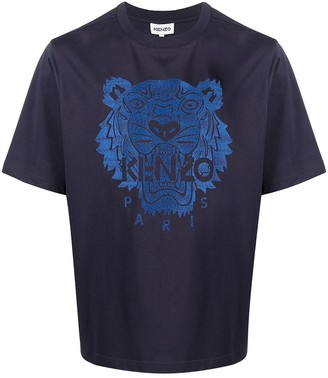 Kenzo tiger-embroidered T-shirt