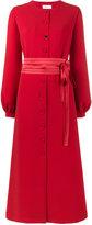 Racil - button up bow dress - women - Polyester/Acetate/Viscose - 34