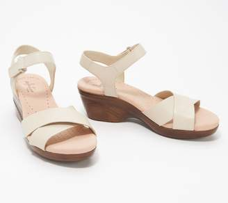 Clarks Collection Leather Cross- Strap Sandals - Lynette Deb