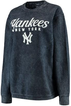 New York Yankees Women's G-III 4Her by Carl Banks Navy Comfy Cord Pullover Sweatshirt