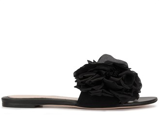 Alexander McQueen flower appliqué sandals