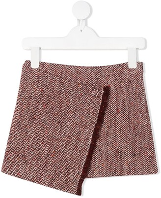 Il Gufo Fringed Edge Mini Skirt