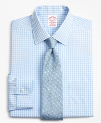 Brooks Brothers Traditional Relaxed-Fit Dress Shirt, Non-Iron Check