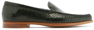 Gabriela Hearst Renault Elaphe Loafers - Dark Green