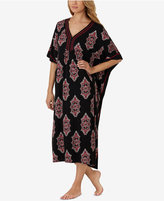 Ellen Tracy Printed Cotton-Blend Caftan