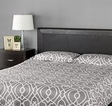 Zinus Faux Leather Upholstered Top Stitched Headboard, Queen, Espresso