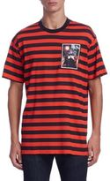 Givenchy Destroyed Striped Cotton Tee