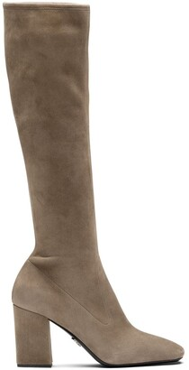 Prada Square-Toe Pull-On Boots