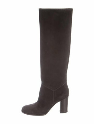 Chanel Suede Boots Grey