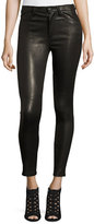 Joe's Jeans The Charlie Leather Skinny Ankle Jeans, Black